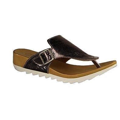 Maca Kitzbühel 2200 - Damen Schuhe Zehentrenner Pantoletten - White, Größe:39 EU