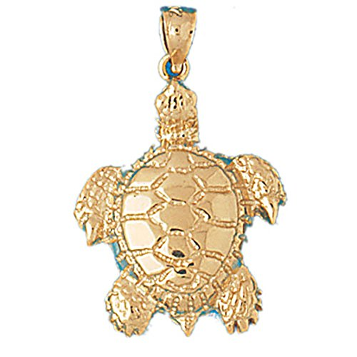14k Yellow Gold Turtles Pendant (20 x 31 mm) 14k Yellow Gold Turtle Pendant