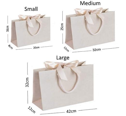 Luxury Boutique - Bolsa de regalo con asas de cinta y cuerda ...