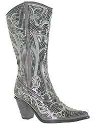 HELENS HEART 0290-12 GREY WOMENS WESTERN BOOT Size 8M