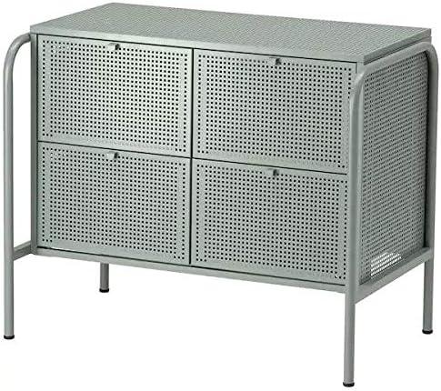 IK IKEA NIKKEBY - Cajonera con 4 cajones, Color Gris-Verde, 84 x 70 cm: Amazon.es: Hogar