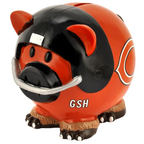 NFL unisex-adult Resin Large Thematic Piggy Bank at Steeler Mania
