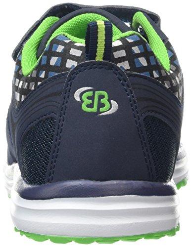 Bruetting Print Vs - Zapatillas de running Niños Azul - Blau (marine/grün)