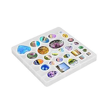 Atlojoys 31 Unids DIY Moldes de Resina de Silicona Colgante de Joyer/ía Moldes Crystal Craft Kit para DIY Joyer/ía Craft Making