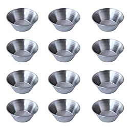 12 Polished Stainless Steel Portion Cups,1.5 oz. - 4 Dozen