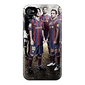 Hard Plastic Case Cover For HTC One M8 Cases Back Covers,hot Fc Barcelona Team Sport Cases At Perfect Customized