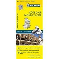 Carte Côte-dOr, Saône-et-Loire Michelin