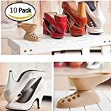 Alonea 10pc Creative Plastic Shoes Rack Organizer Space-Saving Storage Shoes Holder Random C
