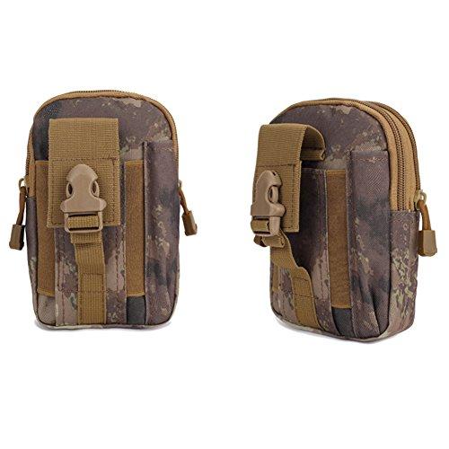 Highdas Mens Taktisch Draussen Taille Pack Münze Geldbörse für Iphone 6 Plus für SAMSUNG Note 2 3 4 1000D Nylon Militär Waist Bag Ruins Khaki VU5njAxXi