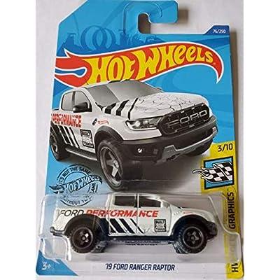 Hot Wheels 2020 Hw Speed Graphics '19 Ford Ranger Raptor, White 76/250: Toys & Games