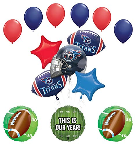 Mayflower Products Tennessee Titans Football Party Supplies This is Our Year Balloon Bouquet Decoration ()