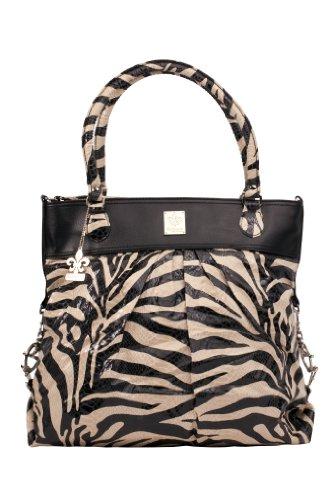 Kalencom - Bolso cambiador, diseño de tigre salvaje, color negro y beige