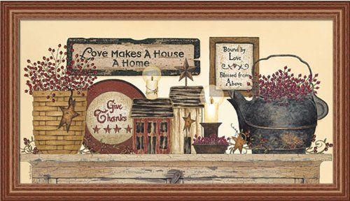 Blessed From Above by Linda Spivey Country Primitive 33x19 in Framed Art Print Picture Linda Spivey Country Framed Picture