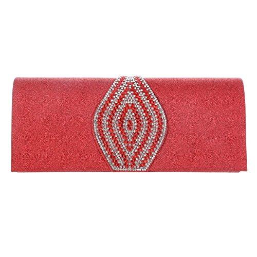 Damara Evening Glitter Long Clutch Rose Magnet Snap Womens Bags rwZBxqr
