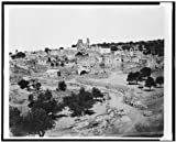 Photo: Bethany,stone walls,ruins,Biblical site,stone buildings,dwelling,P Bergheim,1860