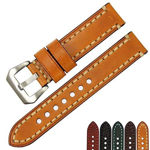 ZLIMSN Italian Calfskin Real 100% Leather Watch Accessories 20 22 24 26mm Men Women Wrist Strap Belt