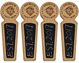 Awofer Set Of 4-40 Wood tap handle for kegerator, Chalkboard beer keg tap handle with laser engraved pine nuts logo, Premium Craft Beer, 8.3 INCH Long Cherry Wood, Craft beer gifts …