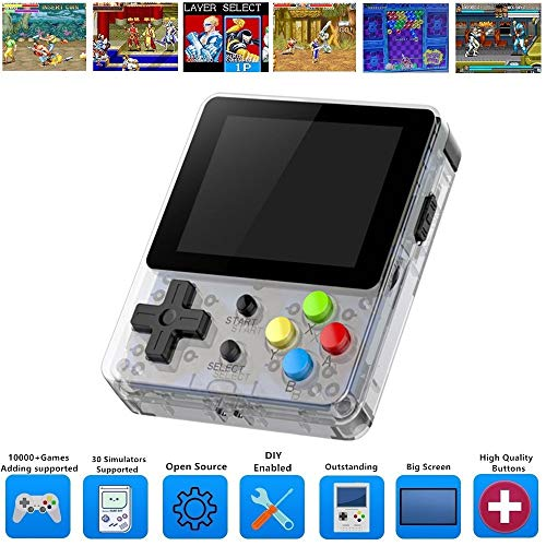 ARCADORA Handheld Video Game Console Rechargeable with 10000+ Built-in Games, 64GB Fast Card Open Source Linux, Support Add and Delete Games