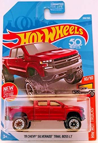 Hot Wheels Mattel 2018 Hw Hot Truck - '19 Chevy Silverado Trail Boss LT (Red) 299/365