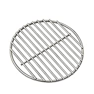 "10.25"" BBQ High Heat Stainless Steel Charcoal Fire Grate Fits for Kamado Joe Classic Fire Grate and Other Big Green Egg Grill Parts Charcoal Grate Replacement Accessories (10 1/4"")"