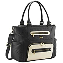 JJ Cole Diaper Bag, Caprice, Onyx/Ivory
