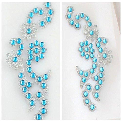 Spritech(TM) ojos resistente al agua tatuaje temporal con brillantes cristales Swarovski tatuaje temporal arte del cuerpo para fiestas discotecas fiestas fiestas bodas azul
