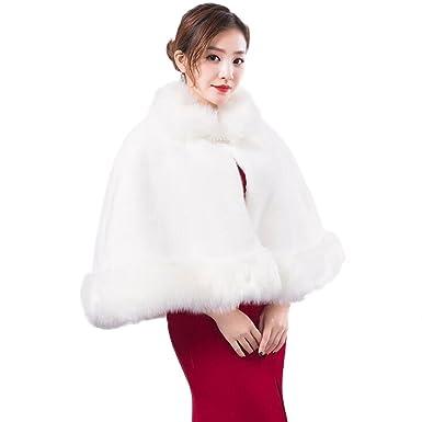 FGSJEJ Vestidos de novia, chales, capas blancas, abrigos, tostadas de noche, abrigos de pieles, capas: Amazon.es: Ropa y accesorios