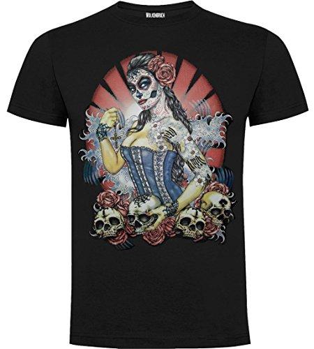 Wolkenbruch Shirt Day of Dead Pin Up Tattoo Rockabilly Gr.M-XXXXXL