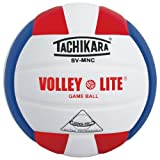 Tachikara SV-MN Volley-Lite Volleyball with Sensi-Tech Cover
