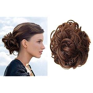 HI GIRL Fashion Donut Clip on Dish Hair Bun Ponytail Extension Hairpiece Scrunchie Chignon Tray Ponytail #M4-30