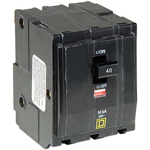 Square D by Schneider Electric QO340CP QO 40 Amp Three-Pole Circuit Breaker, (3 Position Circuit Breaker Panel)