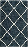 Cheap Safavieh Hudson Shag Collection SGH281L Slate Moroccan Diamond Trellis Area Rug (3′ x 5′)