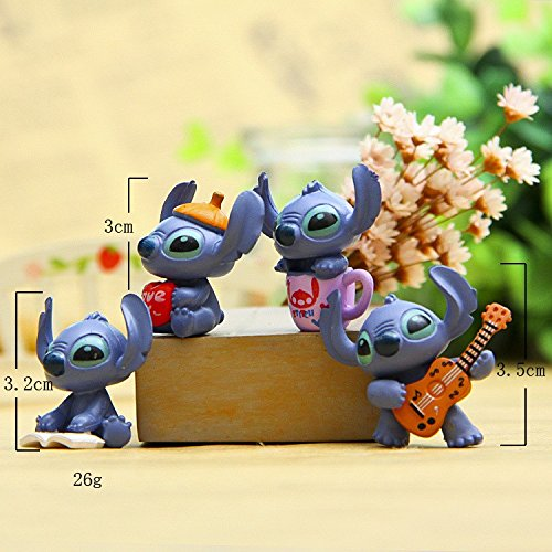4pcs Mini Stitch figure toy set 2016 New Anime stitch action figurines Christmas gift and dolls Home party supply (Evangelion Mini Figure)