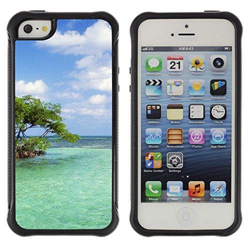 Planetar   Trees Island Sailing Vessel Bank Azure Horizon Parallax   Apple Iphone 5   5S Defender Series Soft Tpu Skin Bumper Case