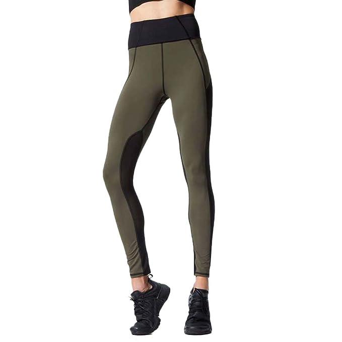 Amazon.com: Womens Gym Pants,St.Dona High Waist Mesh ...