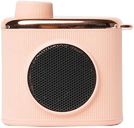 レトロなBluetoothスピーカーミニポータブル360°サラウンドベースステレオホーム高忠実度音質スピーカー音楽再生ワイヤレス電子機器(Pink)