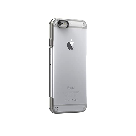 huge discount d560a cc0e2 PureGear Slim Shell PRO for iPhone 6s Plus/6 Plus - Clear/Light Gray