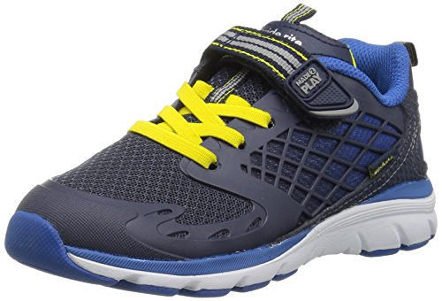 Stride Rite Kids' Made 2 Play Breccen Sneaker, Navy, 6 M US - Mulberry Leather Collection