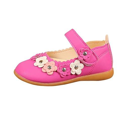 73840c0204a88 Amazon.com | Lanhui Kids Girl Sandals Flower Fashion Leather Single ...