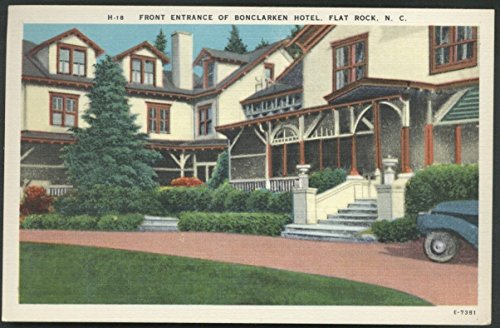 North Carolina Bonclarken Hotel Flat Rock NC and Old Car Linen Postcard ()