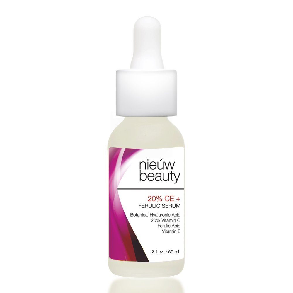 20% CE + FERULIC SERUM by nieuw beauty. Natural & Certified Organic, Anti-Aging, Skin Firming for Women & Men. Fortified Bio-Available Vitamin C, Vitamin E and Ferulic Acid. All skin types. (2 oz)