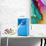 Personal Air Conditioner, Small Desktop Fan Personal Table Fan Mini Evaporative Air Circulator Cooler Humidifier, Mini Cooler Humidifier Bladeless Quiet for Office, Dorm