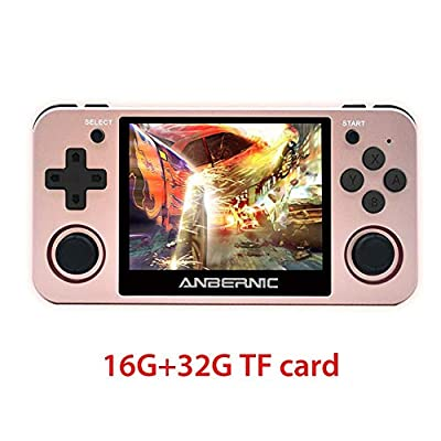 N/X RG350m Handheld Game Console,3.5 Inch Screen Classic Arcade Retro Games Player Gameboy with 16GB + 32GB TF Card, Birthday Gifts Presents for Kids Children,Built in 10000 Games Opendingux System: Home & Kitchen