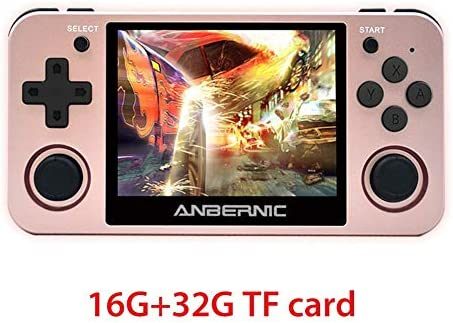 RG350M IPSレトロゲームコンソール ハンドヘルドゲームコンソール ポータブルゲーム機 3.5インチスクリーンを 2500mAhの内蔵リチウム電池