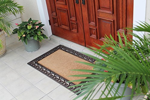 Rectangle Welcome Mat - A1HC FIRST IMPRESSION Large Doormat | Rubber and Coir Doormat With Large Wipe Area| 30 x 48 Inch | Standard Double Doormat |Natural Fade | Large Size Doormat |Rubber Backed | Bootscrapper