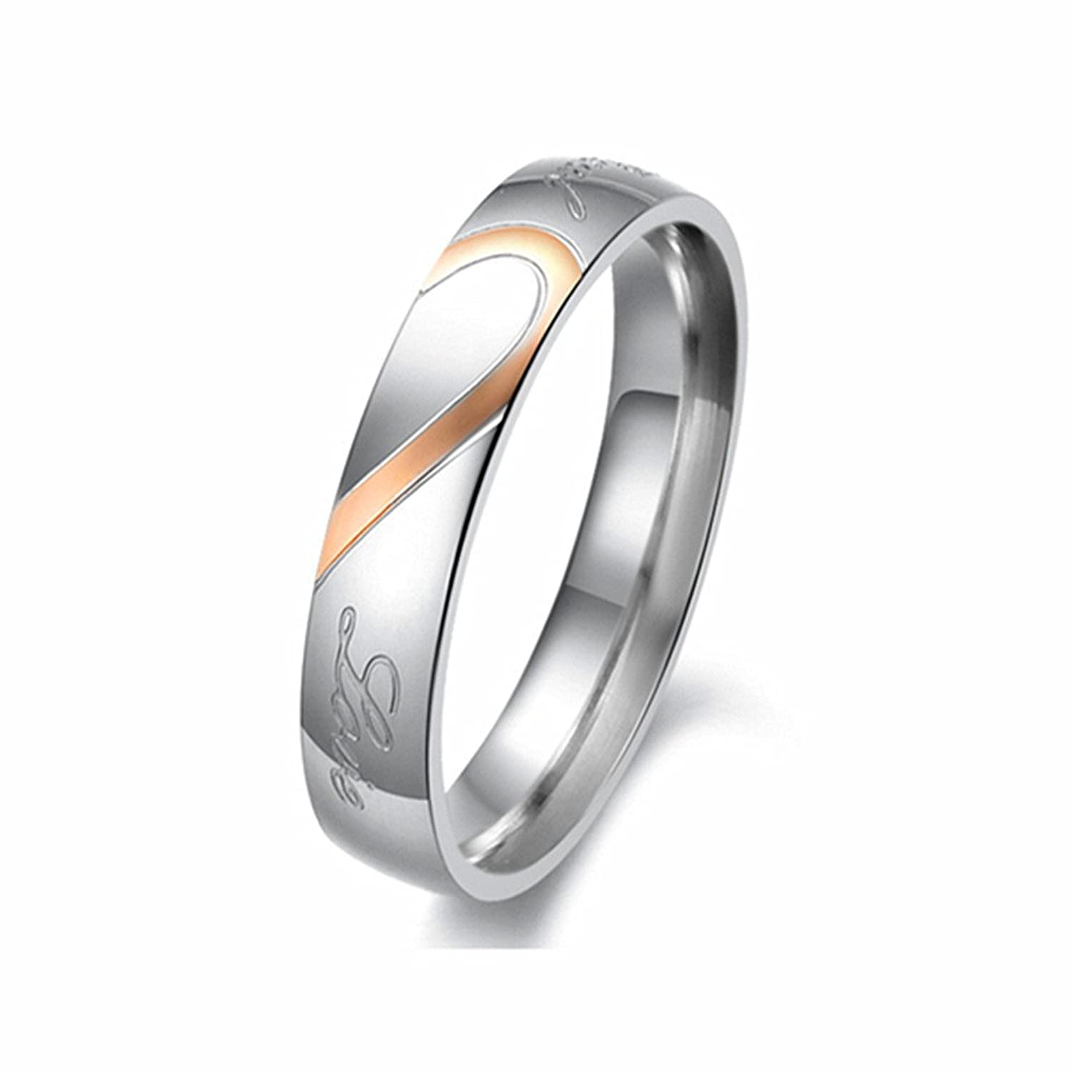 Amazon U2U Jewelry Stainless Steel 0109 Engraved Couples