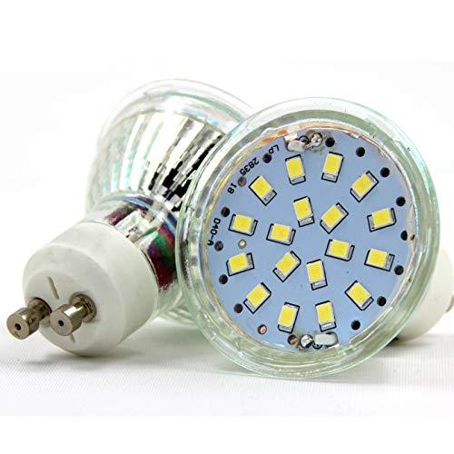 6er GU10 LED warmweiss Energiespar lampen 5.5w kaltweiss für Schlafzimmer Wohnzimmer Studio