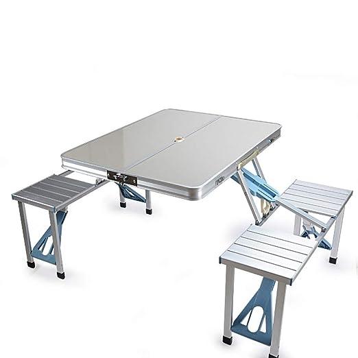 Mesa Plegable al Aire Libre y sillas Mesa de Comedor Mesa de ...