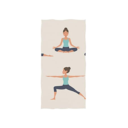 Yoga Dibujos animados Chica saludable Spa suave Toalla de ...