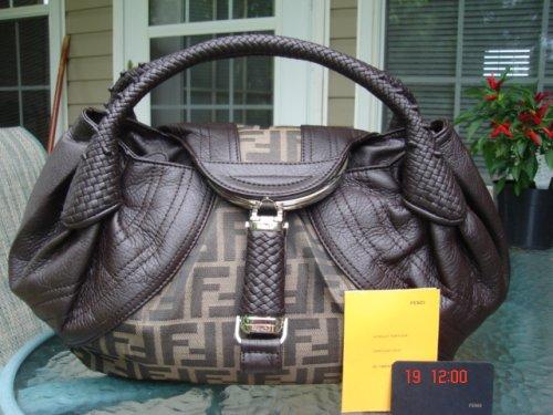 Fendi Handbag Spybag dark brown